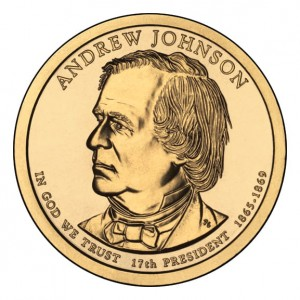 Prezydenci USA - 1$ / 2011 r. - 	Andrew Johnson  (nr 17)