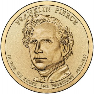 Prezydenci USA - 1$ / 2010 r. - 	Franklin Pierce  (nr 14)