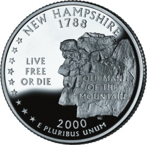 USA:  25 Centów / 2000 r. - New Hampshire (nr 9)