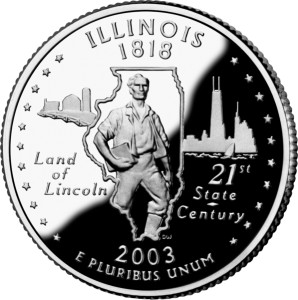 USA:  25 Centów / 2003 r. - Illinois (nr 21)