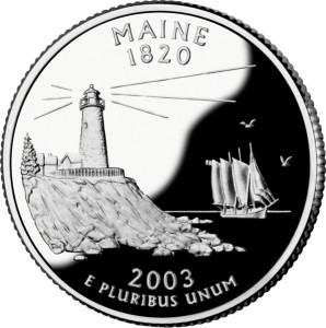 USA:  25 Centów / 2003 r. - Maine (nr 23)