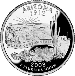 USA:  25 Centów / 2008 r. - Arizona (nr 48)