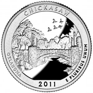 USA:  25 Centów / 2011 r. -  Chickasaw National Recreation Area (nr 10)