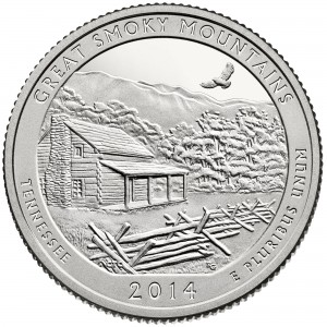USA:  25 Centów / 2014 r. -  Park Narodowy Great Smoky Mountains (nr 21)
