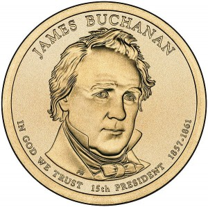 Prezydenci USA - 1$ / 2010 r. - 	James Buchanan  (nr 15)
